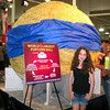 World's largest popcorn ball. Just because.