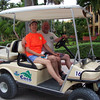 Headed out to tour the island for the day on our golf cart.