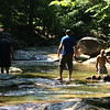 Bets Dads ever to rearrange the rocks to adjust the flow of water...  That way the kids could raft down the river!