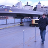 Erik next to a Lockheed A-12