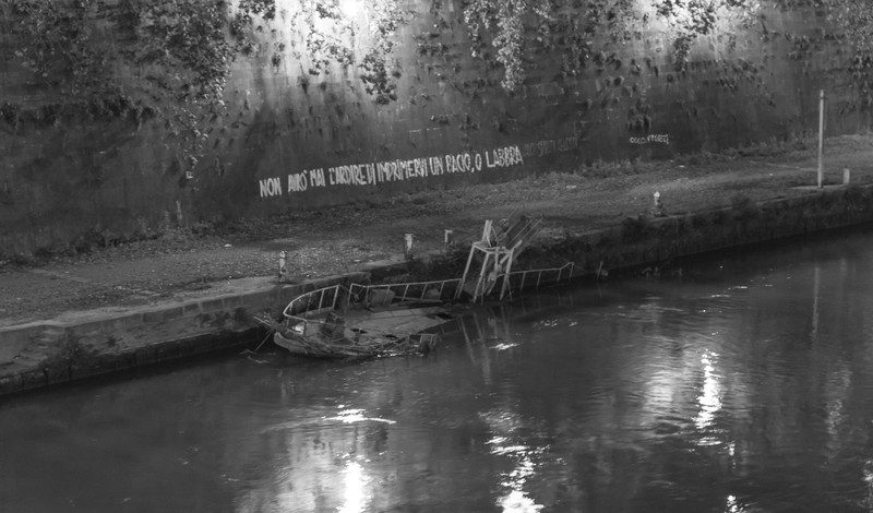 Shipwreck in the Tiber