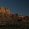 Day 1 from our hotel room in Sedona as the sun sets