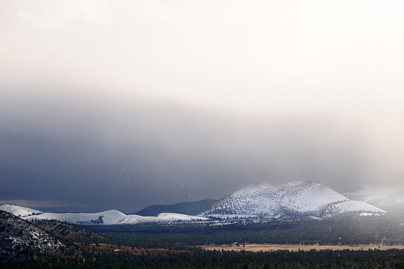 Storm over Sunset Crater NM