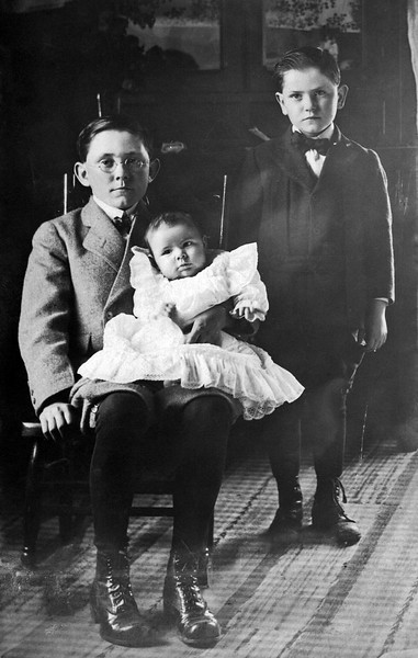 Valentines…Young Earl, holding Lloyd, and Ralph