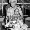 Great Grandma Stroh and Skip. Notice his foot brace!!!