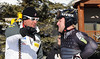 Head Coach Sasha Rearick talks with Olympian Andrew Weibrecht. The Olympic men's alpine ski team was at Park City Mountain Resort in Park City, Utah for a pre-Olympic speed training camp. (U.S. Ski Team/Tom Kelly)