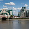 Panorama of Vauxhall Bridge in London, England