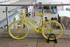 18th July ...............Yellow cycle for Tour de France promotion<br /> 101 yellow cycles were released for hire in London to promote <br /> the 101st Tour de France and Welcome To Yorkshire were keen <br /> for all businesses in the region to get involved and benefit from <br /> this amazing event.<br /> By Clive Featherstone.