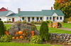 Fall decor with pumpkins at the Cedar Grove Farm near Peacham, Vermont, USA.