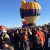 Albuquerque, NM, Balloon Fiesta,  No launch due to winds. Balloons were tethered and inflated. Oct 2014