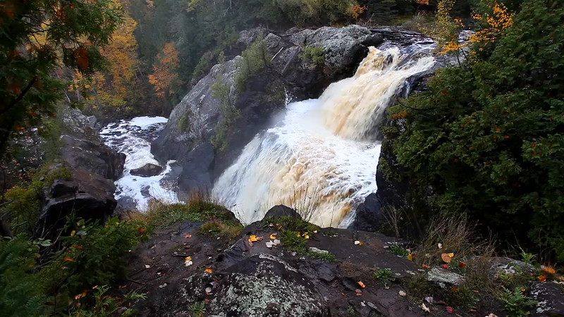 Falling Above - Gabbro Falls (Black River - Upper Michigan)