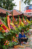 The flower market in Haiphong, Vietnam, Asia.