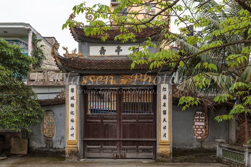 An historic old buddhist temple in Haiphong, Vietnam, Asia.