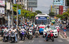 Street traffic in Saigon, Ho Chi Minh City, Vietnam, Asia.