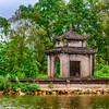 A small Buddhist shrine along the Yen River to the Perfume Pagoda near Hanoi, Vietnam, Asia.