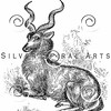 Vintage Gazelle Antelope Illustration - 1800s Gazelles Images.
