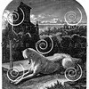 Vintage Dog at Grave Illustration - 1800s Dogs Images