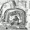 Vintage 1800s Photo-Etching Illustration of a Plan of the Tower of London from MEMOIRS OF THE COURT OF ENGLAND by Jesse Heneage.  The natural patina, age-toning, imperfections, and old paper antiquing of this vintage 19th century illustration are preserved in this image.