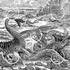 Vintage Extinct Dinosaurs Illustration - 1800s Dinosaur Images