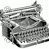 Vintage Typewriter Illustration - Typewriters Images.