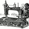 Vintage Sewing Machine Illustration - 1800s Machines Images.