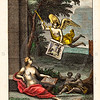 Vintage 1600s Color Illustration of Greek Gods Mythology - OVID'S EPISTLES TRANSLATED BY SEVERAL HANDS, published in London for Jacob Tonson.