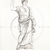 Vintage 1800s Color Illustration of Greek Goddess.