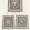 Vintage 1800s Sepia Illustration of Ornamental Decorative Carpet