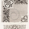 Vintage 1800s Sepia Illustration of Ornamental Decorative Design from GEWERBEHALLE by Willhelm Baumer.  The natural patina, age-toning, imperfections, and old paper antiquing of this vintage 19th century illustration are preserved in this image.