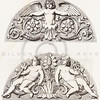 Vintage 1800s Sepia Illustration of Ornamental Decorative Design