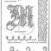 Vintage 1800s Sepia Illustration of Victorian Monogram and Initial  Design Pattern- GODEY'S AND PETERSON'S LADY'S MAGAZINES.