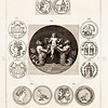 Vintage 1700s Sepia Illustration of Ancient Coins - FRAGMENTS OF THE HOLY SCRIPTURES by Calmet.