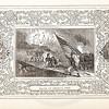 Vintage 1800s Sepia Illustration of the Death of a General with Decorative Frame - LIVES OF THE HEROS OF THE AMERICAN REVOLUTION by John Frost.