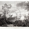 Vintage 1800s Sepia Steel Engraving Illustration of the Battle At Pittsburg Landing from THE GREAT REBELLION by J.T. Headley.  The natural patina, age-toning, imperfections, and old paper antiquing of this vintage 19th century illustration are preserved in this image.