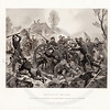 Vintage 1800s Black & White Illustration of the Battle of Shiloh - NATIONAL HISTORY OF THE WAR FOR THE UNION by E.A. Duyckinck.