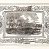Vintage 1800s Sepia Illustration of Naval Battle Ships Attacking a Fort with Decorative Frame - LIVES OF THE HEROS OF THE AMERICAN REVOLUTION by John Frost.