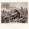 Vintage 1800s Black & White Illustration of the Attack at Chantilly - NATIONAL HISTORY OF THE WAR FOR THE UNION by E.A. Duyckinck.