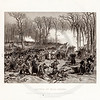 Vintage 1800s Black & White Illustration of the Battle of Hill Creek - NATIONAL HISTORY OF THE WAR FOR THE UNION by E.A. Duyckinck.