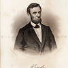 Vintage 1800s Steel Engraving Sepia Illustration of Abraham Linc