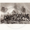 Vintage 1800s Black & White Illustration of the Battle of Fair Oaks - NATIONAL HISTORY OF THE WAR FOR THE UNION by E.A. Duyckinck.