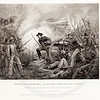 Vintage 1800s Black & White Illustration of the Battle of Chickamauga - NATIONAL HISTORY OF THE WAR FOR THE UNION by E.A. Duyckinck.