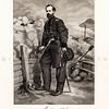 Vintage 1800s Black & White Illustration of Civil War Military P
