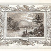 Vintage 1800s Sepia Illustration of Nashville with Decorative Frame - LIVES OF THE HEROS OF THE AMERICAN REVOLUTION by John Frost.