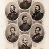 Vintage 1800s Steel Engraving Sepia Illustration of Union Genera