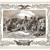 Vintage 1800s Sepia Illustration of Soldiers with Cotton Bales w