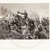 Vintage 1800s Black & White Illustration of the Battle of the Wilderness - NATIONAL HISTORY OF THE WAR FOR THE UNION by E.A. Duyckinck.