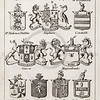 Vintage 1800s Sepia Illustration of British Baronets Coats of Arms from THE PRESENT PEERAGE OF THE UNITED KINGDOM by James Ridgway in London.  The natural patina, age-toning, imperfections, and old paper antiquing of this vintage 19th century illustration are preserved in this image.