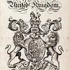 Vintage 1800s Sepia Illustration of Heraldry from THE PRESENT PEERAGE OF THE UNITED KINGDOM by James Ridgway in London.  The natural patina, age-toning, imperfections, and old paper antiquing of this vintage 19th century illustration are preserved in this image.