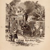 Vintage illustration of Panama Railroad, c1800s.  The natural age-toning, paper stains, and antique printing imperfections are preserved in this 1800s vintage stock image.