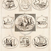 Vintage 1700s Sepia Illustration of Boats - FRAGMENTS OF THE HOLY SCRIPTURES by Calmet.